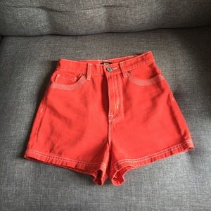 Urban Outfitters BDG high rise red denim shorts